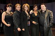 Premiere van de musical Hij Gelooft in Mij in het De La Mar Theater, Amsterdam.<br /> <br /> op de foto:   Roxanne Hazes , Andre Jr. (dre) Hazes , Chantal Janzen , Rachel Hazes en Martijn Fischer (als Andre Hazes)