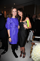 Left to right, LUCY YEOMANS and TAMARA MELLON at a party to celebrate Lancome's 10th anniversary of sponsorship of the BAFTA's in association with Harper's Bazaar magazine held at St.Martin's Lane Hotel, London on 19th February 2010.