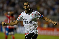 20120307: SAO PAULO, BRAZIL - Player Danilo celebrates goal during Corinthians (Brasil) vs Nacional (Paraguai) for Copa Libertadores held at Pacaembu stadium in SP<br />