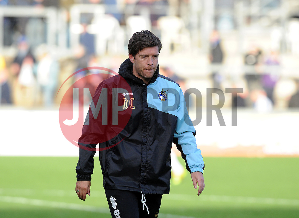 A dejected Bristol Rovers Manager Darrell Clarke - Mandatory byline: Neil Brookman/JMP - 07966 386802 - 24/10/2015 - FOOTBALL - Memorial Stadium - Bristol, England - Bristol Rovers v Newport County AFC - Sky Bet League Two