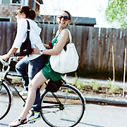 Friend on a bike ride in downtown Anchorage, Alaska. 2009