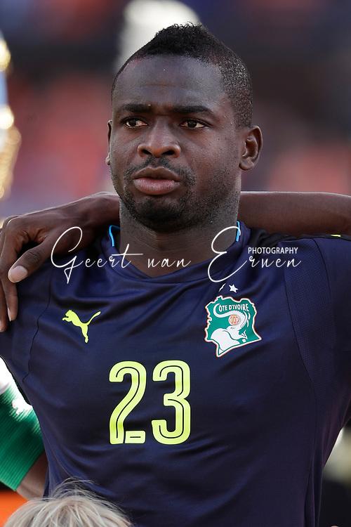 04-06-2017 VOETBAL:NEDERLAND-IVOORKUST:ROTTERDAM<br /> Oranje oefende tegen Ivoorkust vanavond in De Kuip<br /> <br /> Badra Sangare doelman van Ivoorkust <br /> <br /> Foto: Geert van Erven