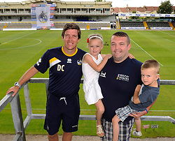 Bristol Rovers Manager, Darrell Clarke has his photo taken with fans - Photo mandatory by-line: Dougie Allward/JMP - Mobile: 07966 386802 27/07/2014 - SPORT - FOOTBALL - Bristol - Bristol Rovers - - Memorial Stadium - Fun Day