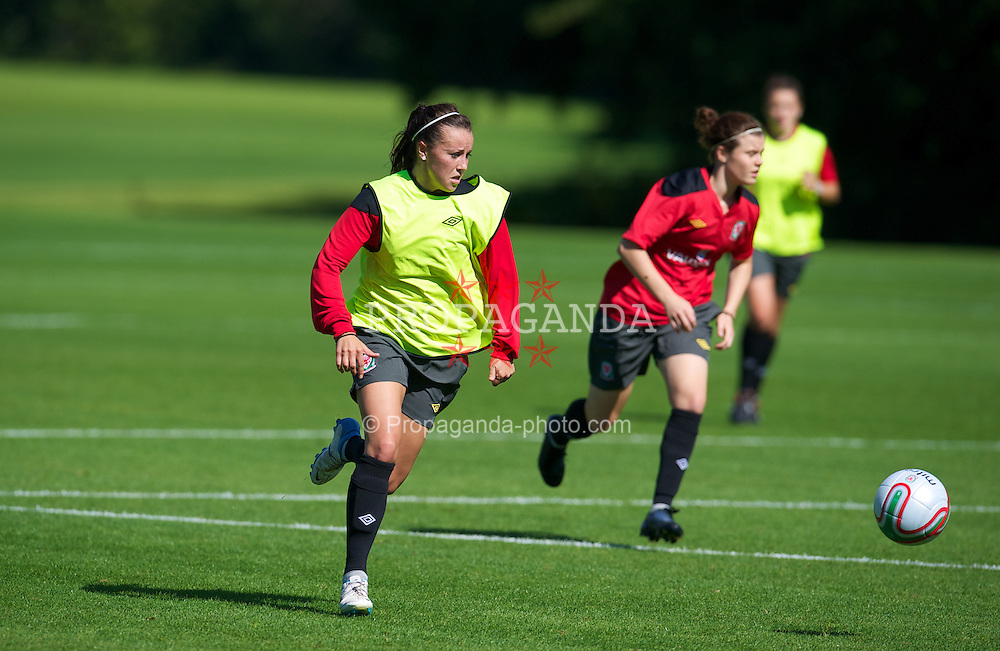 CARDIFF, WALES - Wednesday, September 12, 2012: Wales' Natasha Harding during a training session at the Vale of Glamorgan ahead of the UEFA Women's Euro 2013 Qualifying Group 4 match against Scotland. (Pic by David Rawcliffe/Propaganda)