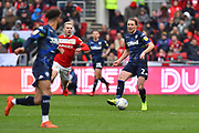 Luke Ayling (2)  of Leeds United brings the ball out during the EFL Sky Bet Championship match between Bristol City and Leeds United at Ashton Gate, Bristol, England on 9 March 2019.