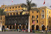 Building on  Plaza de Armas  Lima, Peru