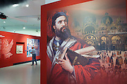 "Linz, Austria. Schlossmuseum (Castle Museum).<br /> Marco Polo exposition ""Von Venedig nach China (From Venice to China)""."