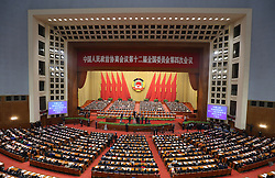 The fourth session of the 12th National Committee of the Chinese People's Political Consultative Conference (CPPCC), China's top political advisory body, opens at the Great Hall of the People in Beijing, capital of China, March 3, 2016. EXPA Pictures © 2016, PhotoCredit: EXPA/ Photoshot/ Ding Lin<br />