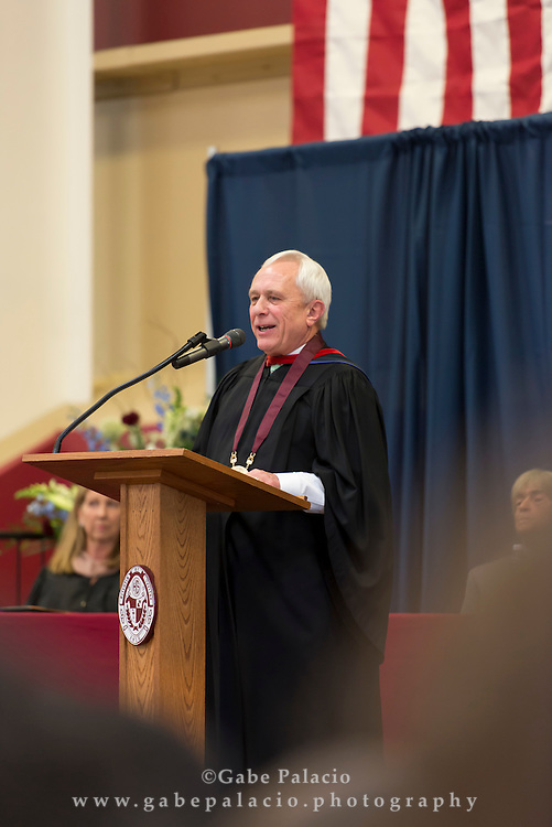 Commencement Address by Barry Fenstermacher, Headmaster, during the Centennial Commencement at the Harvey School on June 9, 2016. (photo by Gabe Palacio)