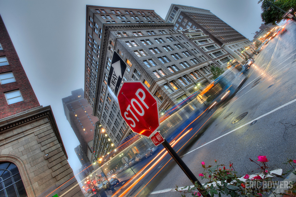 Intersection of 10th & Baltimore St., downtown Kansas City, MO.