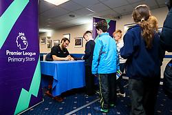 Popular children's football author Dan Freedman visits local school children at Bristol Rovers Memorial Stadium as part of the Premier League Primary Stars initiative - Rogan/JMP - 20/03/2018 - FOOTBALL - Memorial Stadium - Bristol, England.