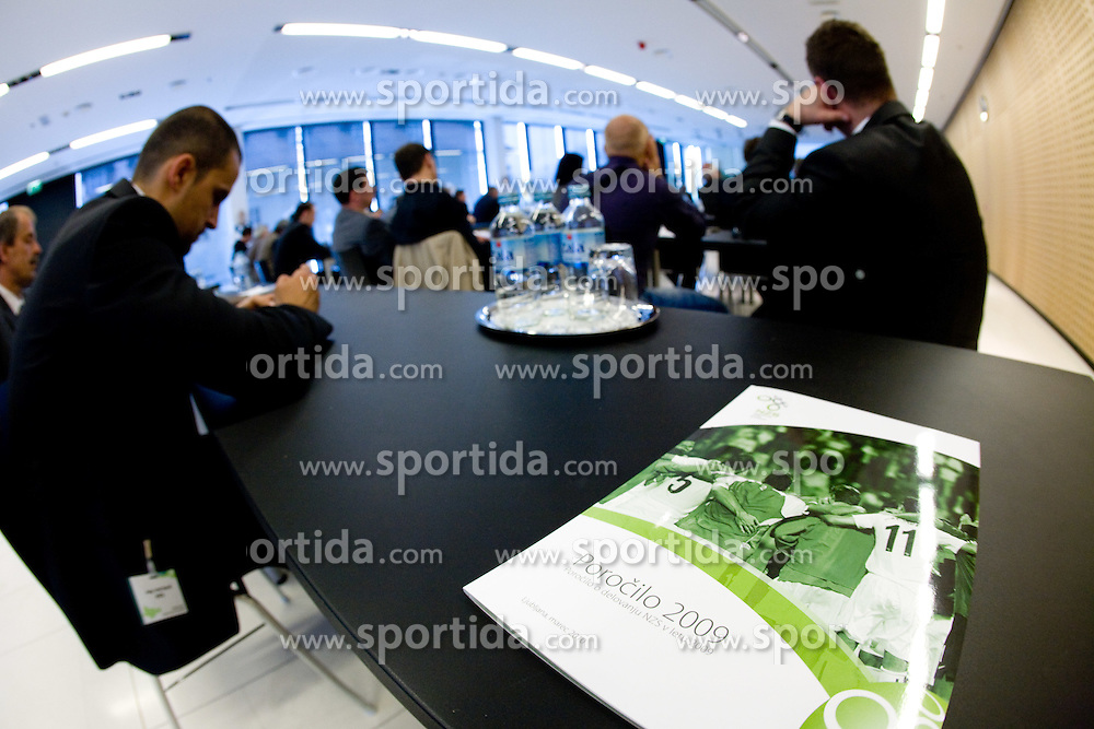 Annual report for year  2009 at General Assembly of Slovenian Football Federation NZS due to it's 90-years Anniversary , on April 24, 2010, in Kongresni center Brdo, Brdo pri Kranju, Slovenia. (Photo by Vid Ponikvar / Sportida)