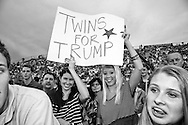 Aug. 21. 2015 Mobile, AL, Trump supporters at his campaign pep rally in Ladd Peebles Stadium. <br /> Over 20 thousand came to the Ladd-Peebles Stadium to attend Trumps campaign pep rally. 40,000 were expected to come.