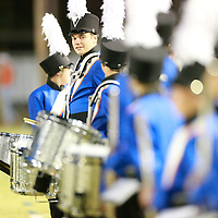Thomas Wells | BUY AT PHOTOS.DJOURNAL.COM<br /> North Pontotoc drummer Andrew Garrett and the rest to the band wait to play the National Anthem before the game on Friday.