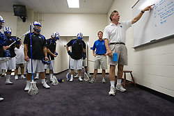26 May 2007: Duke Blue Devils head coach John Danowski in the locker room before the NCAA semifinals to take on the Cornell Big Red at M&T Bank Stadium in Baltimore, MD.