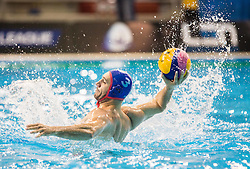 Evaggelos Delakas of Olympiacos during water polo match between Primorje Erste Bank (CRO) and Olympiacos Piraeus (GRE) in 8th Round of Champions League 2016, on April 16, 2016 in Kantrida pool, Rijeka, Croatia. Photo by Vid Ponikvar / Sportida