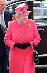 The Queen  arriving at the annual Commonwealth Observance at Westminster Abbey in London, Monday, 10th March 2014. Picture by Stephen Lock / i-Images