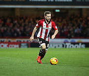 Alan Judge dictating the play during the Sky Bet Championship match between Brentford and Nottingham Forest at Griffin Park, London, England on 21 November 2015. Photo by Matthew Redman.