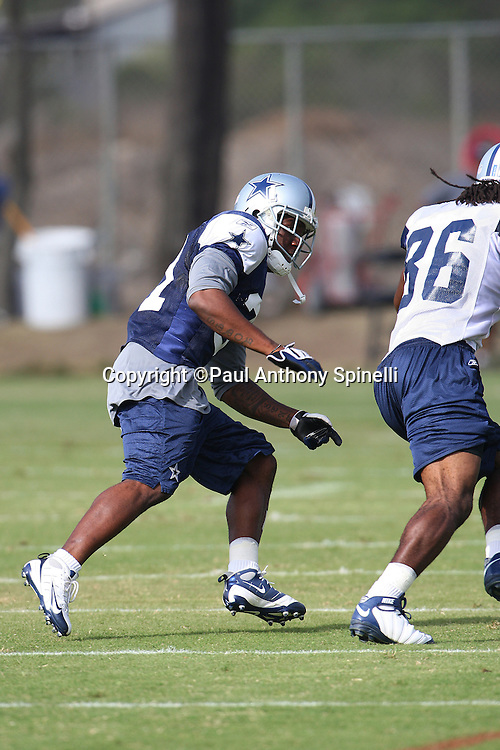 OXNARD, CA - AUGUST 01:  Rookie cornerback Mike Jenkins #31 of the Dallas Cowboys covers wide receiver Isaiah Stanback #86 of the Cowboys as he goes out for a pass during the 2008 Dallas Cowboys Training Camp at River Ridge Field on August 1, 2008 in Oxnard, California. ©Paul Anthony Spinelli *** Local Caption *** Mike Jenkins;Isaiah Stanback