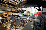 The Commercial aviation Hall at the Smithsonian Air and Space Museum on the mall in Washington, DC.  Photo by Dennis Brack