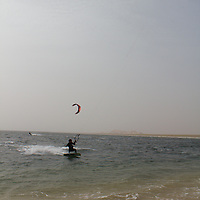 Kitesurfing at Dakhla Attitude, Morocco, December 2011