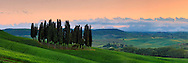 Probably the most photographed bunch of cypress trees in the whole world. Taken around sunset after a mighty thunderstorm in the beautiful fields between San Quirico d'Orcia and Montalcino in Tuscany, Italy, this is stitched from ten vertical frames.