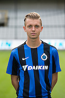 Club's Yannick Reuten poses for the photographer during the 2015-2016 season photo shoot of Belgian first league soccer team Club Brugge, Friday 17 July 2015 in Brugge