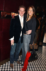 HARRY BECHER and EMILY CROMPTON at a party to launch the Frankie's TLC Card and the TLC Clubcard held at Frankie's Knightsbridge, 3 Yeomans Row, London SW3 on 1st February 2006.<br /><br />NON EXCLUSIVE - WORLD RIGHTS