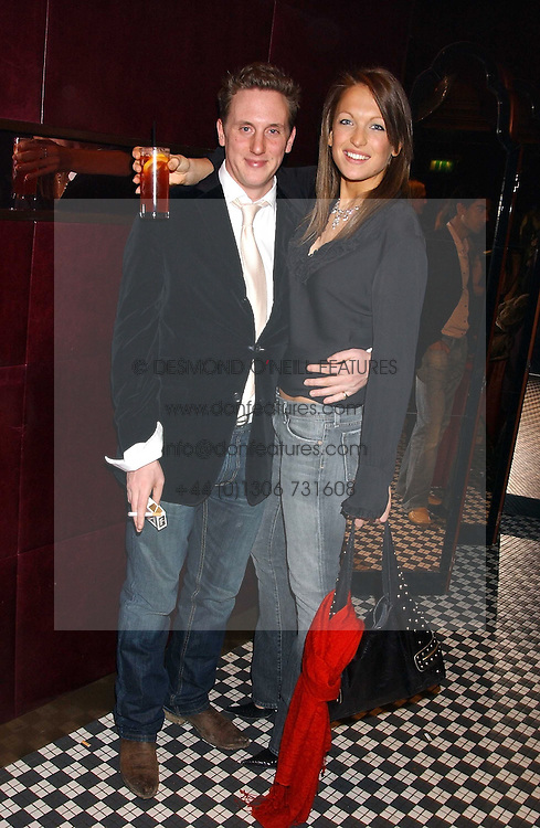 HARRY BECHER and EMILY CROMPTON at a party to launch the Frankie's TLC Card and the TLC Clubcard held at Frankie's Knightsbridge, 3 Yeomans Row, London SW3 on 1st February 2006.<br />