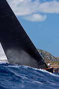 Sojana sailing in The Superyacht Cup regatta, Antigua 2010, race one.