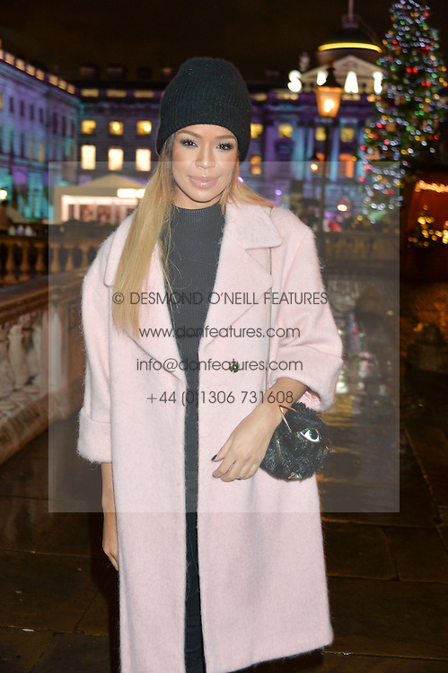 SARAH-JANE CRAWFORD at Skate At Somerset House with Fortnum & Mason on 16th November 2016.