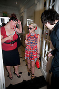 JAIME WINSTONE;, Opening of 'The Promised Land' Exhibition of work by Mitch Griffiths. Halcyon Gallery. Bruton St. London. 28 April 2010 *** Local Caption *** -DO NOT ARCHIVE-© Copyright Photograph by Dafydd Jones. 248 Clapham Rd. London SW9 0PZ. Tel 0207 820 0771. www.dafjones.com.<br /> JAIME WINSTONE;, Opening of 'The Promised Land' Exhibition of work by Mitch Griffiths. Halcyon Gallery. Bruton St. London. 28 April 2010