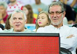 Zoran Predin and Zoran Cutura during basketball match between Netherlands and Croatia at Day 5 in Group C of FIBA Europe Eurobasket 2015, on September 9, 2015, in Arena Zagreb, Croatia. Photo by Vid Ponikvar / Sportida