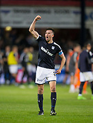 August 9th 2017, Dens Park, Dundee, Scotland; Scottish League Cup Second Round; Dundee versus Dundee United; Dundee's Cammy Kerr celebrates at full time