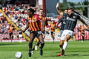 Clayton Donaldson of Bradford City checks his run during the EFL Sky Bet League 2 match between Bradford City and Northampton Town at the Utilita Energy Stadium, Bradford, England on 7 September 2019.