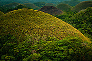 Philippines, Bohol. Chocolate Hills - one of the most popular tourist attractions of the country.