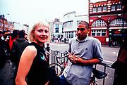 A member of Knuckledust outside the Camden Underworld, London, UK 2000's