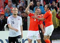 Fotball , 10. juli 2009 , VM-kvalifisering<br /> Nederland - Norge 2-0<br /> Jubel ved Andre Ooijer , Nederland<br /> Netherlands - Norway<br /> WC-Qual.