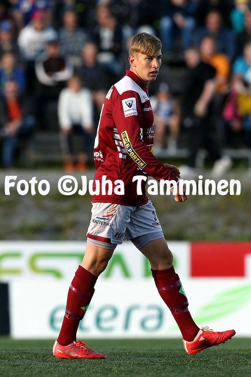 5.7.2015, Savon Sanomat Areena, Kuopio.<br /> Veikkausliiga 2015.<br /> Kuopion Palloseura - FF Jaro.<br /> Oskar Sandstr&ouml;m - Jaro