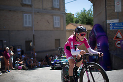 Hannah Barnes (GBR) of CANYON//SRAM Racing reaches the top of the final climb of Stage 5 of the Giro Rosa - a 12.7 km individual time trial, starting and finishing in Sant'Elpido A Mare on July 4, 2017, in Fermo, Italy. (Photo by Balint Hamvas/Velofocus.com)