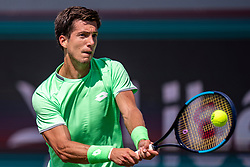 Aljaz Bedene of Slovenia in action during First Round, Men Singles Match on Day Two of the Libema Open 2019 on June 11, 2019 in Rosmalen, Netherlands. Photo by Ronald Hoogendoorn / Sportida