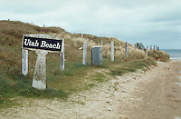 March 1994, France --- A sign at Utah Beach, where the D-Day invasion began, Normandy, France. --- Image by © Owen Franken/Corbis