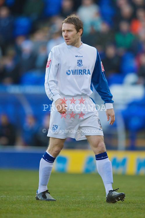 BIRKENHEAD, ENGLAND - Saturday, January 24, 2009: Tranmere Rovers' Ian Moore in action against Carlisle United during the League One match at Prenton Park. (Mandatory credit: David Rawcliffe/Propaganda)