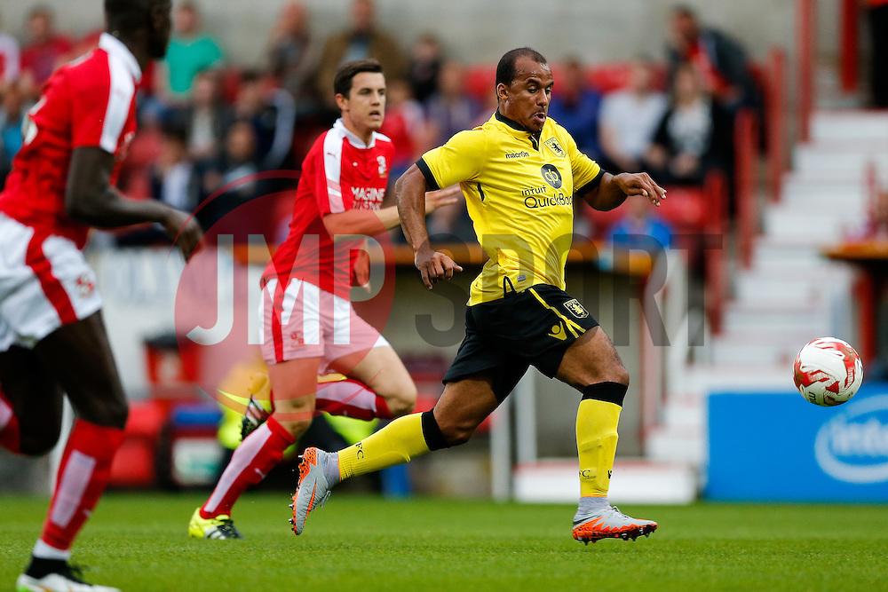 Gabriel Agbonlahor of Aston Villa in action - Mandatory byline: Rogan Thomson/JMP - 07966 386802 - 21/07/2015 - SPORT - Football - Swindon, England - The County Ground - Swindon Town v Aston Villa - 2015/16 Pre Season Friendly.