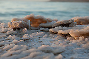 Dead Sea Photos from this morning, with clouds and red sky