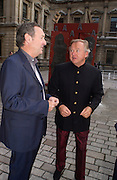 Nick Mason and Sir Anthony Bamford, Around the World in One night, gala to raise money for the Royal Academy,   Royal Academy. 21 June 2004. ONE TIME USE ONLY - DO NOT ARCHIVE  © Copyright Photograph by Dafydd Jones 66 Stockwell Park Rd. London SW9 0DA Tel 020 7733 0108 www.dafjones.com