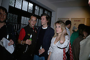 JOHN LYCETT-GREEN,  HENRY HUDSON AND GRACE PILKINGTON ,  Twenty Hoxton Square. Opening exhibition of new gallery at Twenty Hoxton Square. -DO NOT ARCHIVE-© Copyright Photograph by Dafydd Jones. 248 Clapham Rd. London SW9 0PZ. Tel 0207 820 0771. www.dafjones.com.