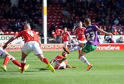 Bristol City's Joe Bryan scores  - Photo mandatory by-line: Joe Meredith/JMP - Mobile: 07966 386802 - 04/10/2014 - SPORT - Football - Walsall - Bescot Stadium - Walsall v Bristol City - Sky Bet League One