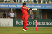 Liam Livingstone of Lancashire Lightning during the Natwest T20 Blast North Group match between Derbyshire County Cricket Club and Lancashire County Cricket Club at the 3aaa County Ground, Derby, United Kingdom on 6 July 2018. Picture by Mick Haynes.