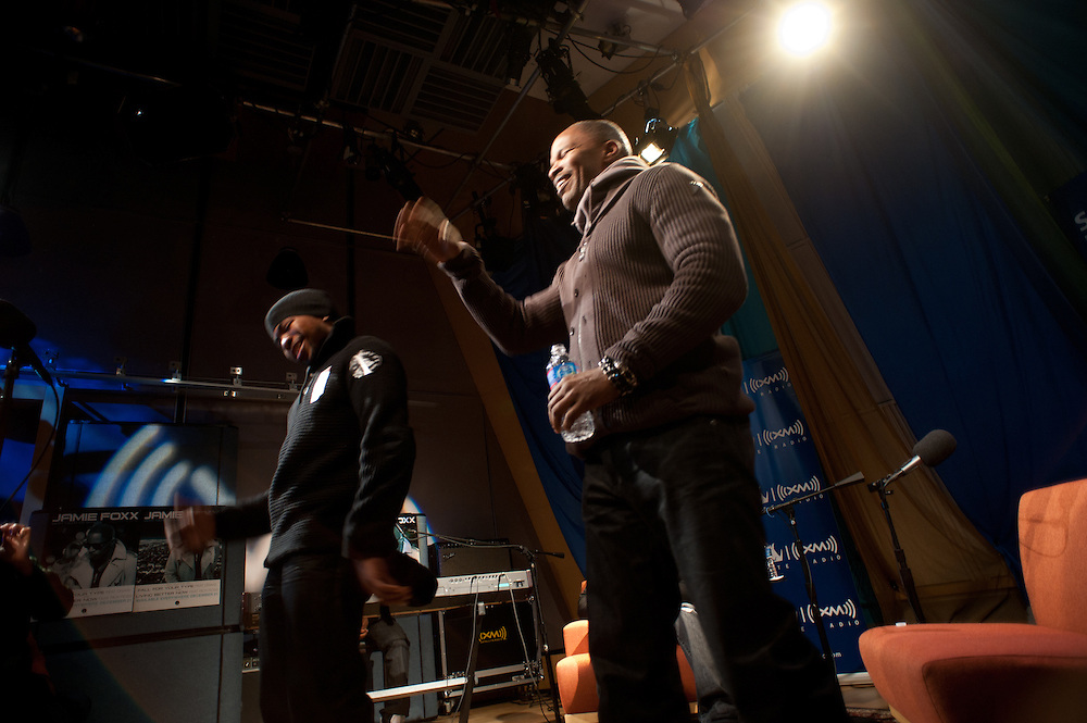 """Washington, DC, December 16, 2010 - Jamie Foxx stops by Sirius XM's 1500 Eckington facility to discuss life, music, and his new album """"Best Night of My Life""""."""